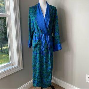 Vintage Victoria's Secret 100% Silk long robe Sz M/L